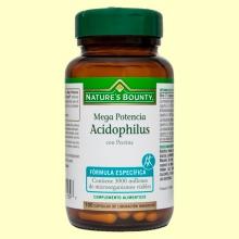 Mega Potencia Acidophilus - 100 cápsulas - Nature's Bounty