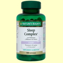 Sleep Complex con Valeriana y Bálsamo de limón - 100 cápsulas - Nature's Bounty
