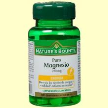 Puro Magnesio 250 mg - 100 comprimidos - Nature's Bounty