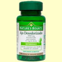 Ajo Desodorizado 3.000 mg (Estandarizado) - 50 cápsulas - Nature's Bounty *