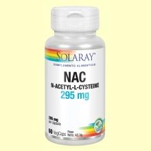 NAC N-Acetil-Cisteina 295 mg - Antioxidante - 60 cápsulas - Solaray