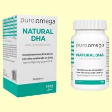 Natural DHA Alta Concentración - 240 perlas - Puro Omega