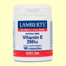 Vitamina E Natural 250 UI - 100 cápsulas - Lamberts