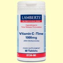 Vitamina C de Liberación Sostenida 1000 mg - 60 tabletas - Lamberts