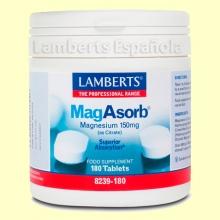 MagAsorb® (Magnesio 150 mg)- Minerales - Lamberts - 180 tabletas