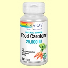 Food Carotene 25000 IU - 50 perlas - Solaray