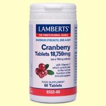 Cranberry - Arándano Rojo 18.750 mg - 60 tabletas - Lamberts