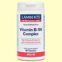 Complejo de vitamina B-100 - 60 tabletas - Lamberts