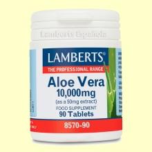 Aloe Vera 10.000 mg - Hierbas - Plantas - Lamberts - 90 tabletas