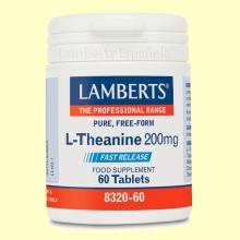 L-Teanina 200 mg - Aminoácidos - 60 tabletas - Lamberts