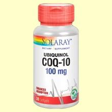 Ubiquinol CoQ-10 100 mg - Coenzima Q-10 - 30 perlas - Solaray