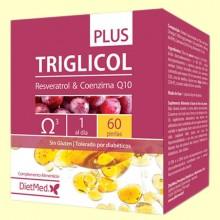 Triglicol Plus - Coenzima Q-10 y Resveratrol - 60 cápsulas - Dietmed