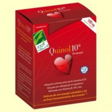 Quinol10 100 mg - Coenzima Q-10 - 100% Natural - 90 cápsulas