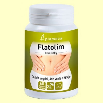 Flatolim - Gases y digestiones pesadas - 60 cápsulas - Plameca