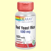 Red Yeast Rice - Levadura roja del arroz - 45 cápsulas - Solaray