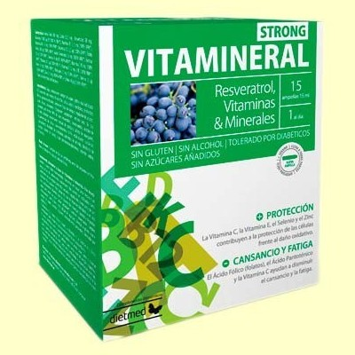 Vitamineral Strong - 15 ampollas - Dietmed