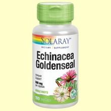 Echinacea Goldenseal - 100 cápsulas - Solaray