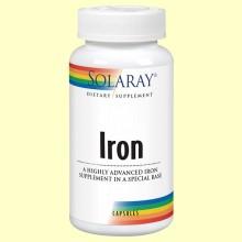 Iron - Hierro - 60 cápsulas - Solaray