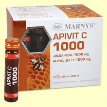 Apivit C 1000 mg - Jalea Real y Vitamina C - 20 ampollas - Marnys