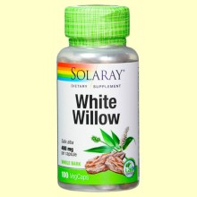 White Willow - Sauce Blanco - 100 cápsulas - Solaray