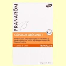 Orégano con Esencia de Limón - 30 cápsulas - Pranarom