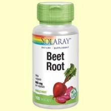 Remolacha - Beet Root - 100 cápsulas vegetales - Solaray