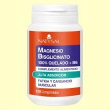 Magnesio Bisglicinato 100% Quelado + B6 - 120 cápsulas - Natysal