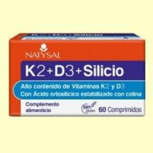 K2 + D3 + Silicio - 60 comprimidos - Natysal