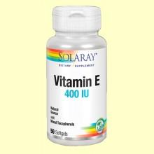 Vitamina E 400 UI - Antioxidante - 50 perlas - Solaray