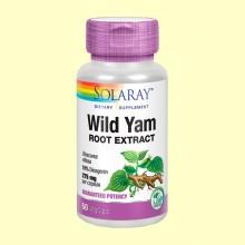 Wild Yam - Extracto de Ñame Mexicano - 60 cápsulas - Solaray