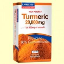 Turmeric - Cúrcuma 20.000 mg - 60 tabletas - Lamberts