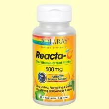 Reacta C 500 mg - Vitamina C no ácida - 60 cápsulas vegetarianas - Solaray