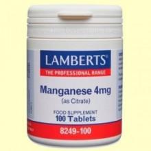 Manganeso 5 mg - 100 tabletas - Lamberts