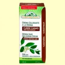 Cubre Canas Henna Castaño - 60 ml - Corpore Sano *