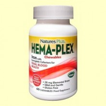 Hema-Plex Masticable - 60 comprimidos - Natures Plus