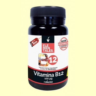 Vitamina B12 100 mcg - 120 cápsulas - Novadiet