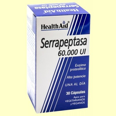 Serrapeptasa 60000 UI - 30 cápsulas - Health Aid