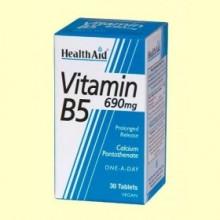 Vitamina B5 (Pantotenato cálcico) 690 mg - 30 comprimidos - Health Aid