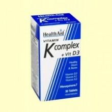 Vitamina K Complex con vitamina D3 - 30 comprimidos - Health Aid