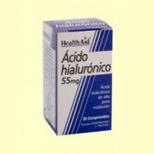 Ácido Hialurónico 55 mg - 30 comprimidos - Health Aid