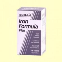Hierro Complex - Iron Formula - 100 comprimidos - Health Aid