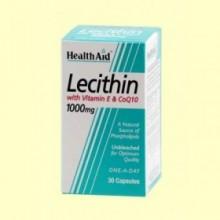 Lecitina con vitamina E y CoQ-10 - 30 cápsulas - Health Aid