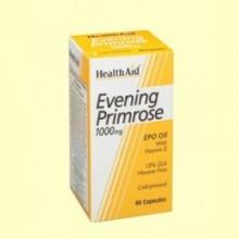 Aceite de Onagra 1000 mg con vitamina E - 60 cápsulas - Health Aid