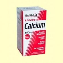 Calcio 600 mg - 60 comprimidos - Health Aid