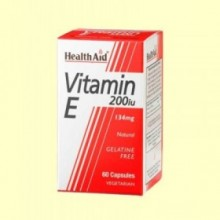Vitamina E Natural 200 UI - 60 cápsulas - Health Aid