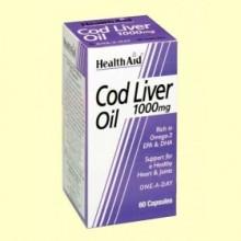 Aceite de Hígado de Bacalao 1000 mg - 60 cáspulas -  Health Aid