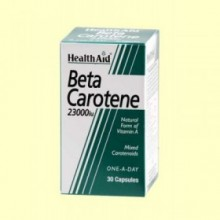 Betacarotene - Betacaroteno Natural 23000 UI - 30 cápsulas - Health Aid