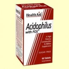 Acidophilus con Fos - 60 comprimidos - Health Aid