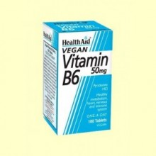 Vitamina B6 - Piridoxina Clorhidrato 50 mg - 100 comprimidos - Health Aid