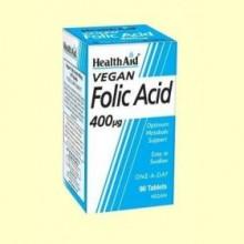 Ácido Fólico 400 ug - 90 comprimidos - Health Aid